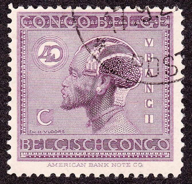 English: Belgian Congo Postage stamp, 1925 iss...