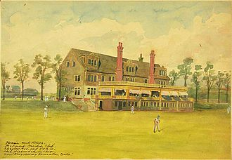 Belmont Cricket Club - The main clubhouse of the Belmont Cricket Club in west Philadelphia.