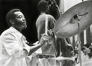 1933 in jazz - Ben Riley at Heath Brothers concert Rockefeller Center, NYC June 1977