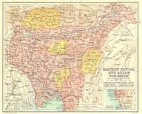 1907年から1909年の ベンガル地方 ...