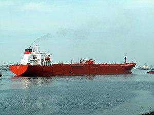 Berana docked at the Caland canal, Port of Rotterdam, Holland 18-Jun-2006.jpg