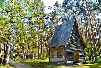 Russians in Latvia - Russian Orthodox church built in 1930s in Rogovka, Rēzekne Municipality, Latgale, currently located at The Ethnographic Open-Air Museum of Latvia
