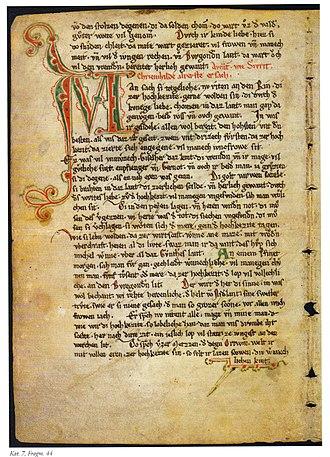 Nibelungenlied - Nibelungenlied Fragment, Berlin, SB, Fragm. 44
