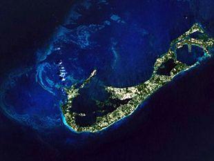 Bermuda vista dal satellite