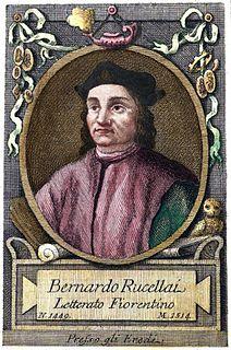 Bernardo Rucellai Italian humanist
