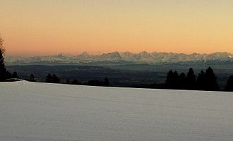Bernese Alps - Bernese Alps seen from Bernese Jura