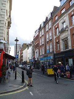 Berwick Street Street in Soho, London