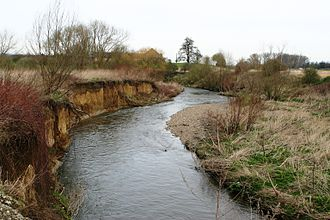 Moelingen - Berwinne river, some 50 meters from the place where it flows into the Meuse river