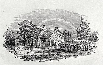 Robert Anderson (poet) - A cockfight outside a country inn by Thomas Bewick