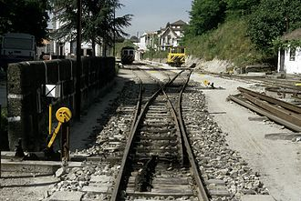 Tâmega line - Amarante station in 1996. This station was the northern terminus of the line between 1909 and 1926 and again between 1990 and 2009