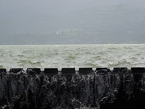 Bhandardara - water level in rainy season at Wilson Dam