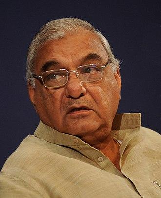 Haryana Legislative Assembly election, 2014 - Image: Bhupinder Singh Hooda in WEF, 2010