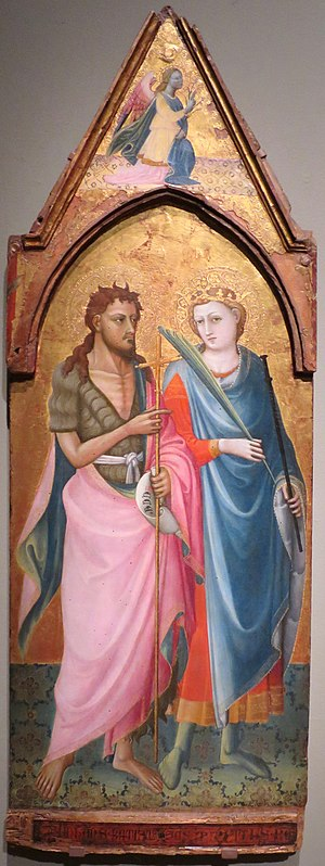 Icon of Saints John the Baptist and Minias