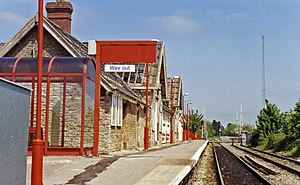 Bicester Village railway station - Bicester Town station in 1992