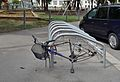 Bicycle rack, Bruno-Kreisky-Park, Vienna.jpg