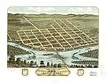 Bird's eye view of Sauk City, Sauk County, Wisconsin 1870. LOC 73694554.jpg