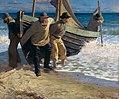 Bjørck Båden sættes i søen.jpg