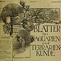 Blätter für Aquarien- und Terrarien-Kunde (1905) (20361237746).jpg