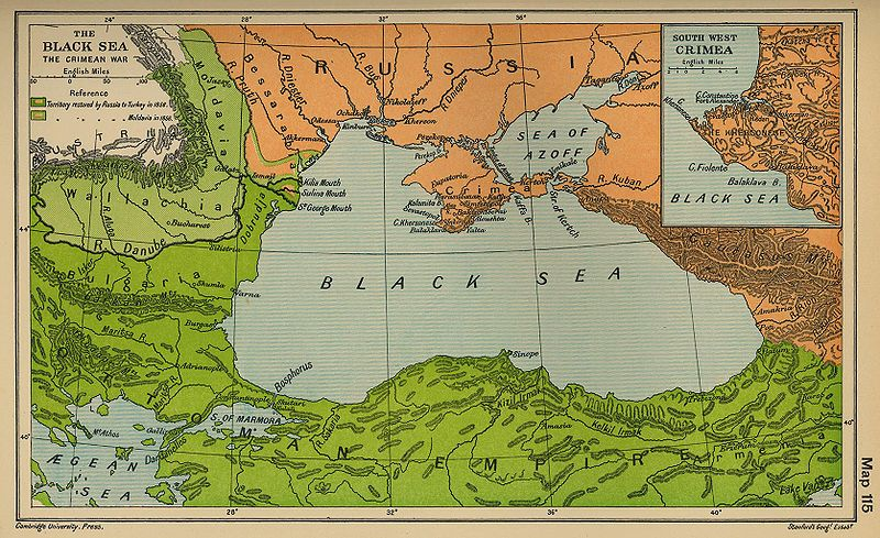 Map of the Crimean War, from Wikimedia