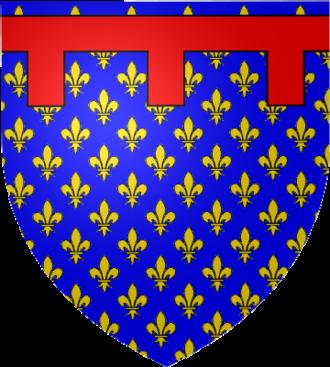Label (heraldry) - Image: Blason Sicile Péninsulaire