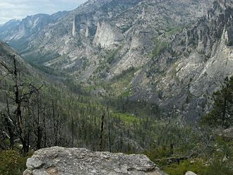 Blodgett Canyon - View from overlook trail