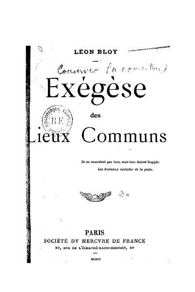File:Bloy - Exégèse des Lieux Communs, Mercure de France, 1902.djvu