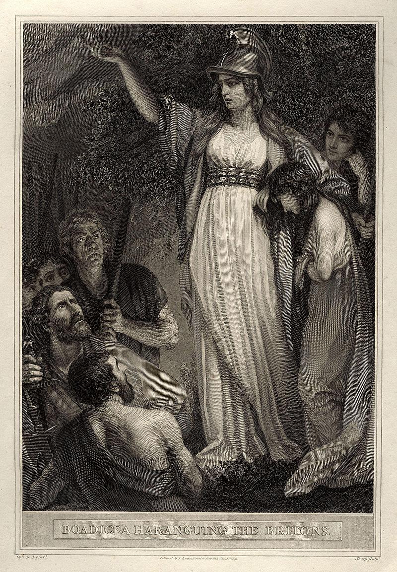 Boadicea Haranguing the Britons (called Boudicca, or Boadicea) by John Opie.jpg