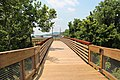 Boardwalk over Pettit Creek, Cartersville, GA June 2018.jpg