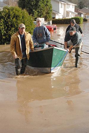 Vernonia, Oregon - Vernonia during the 2007 flooding