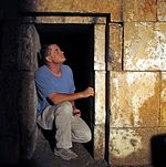 Boaz zissu at herod's family tomb-jerusalem 2009.jpg