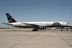 Die Boeing 757-200 (N524AT) der Fly Jamaica Airways, noch in der Bemalung der ATA Airlines