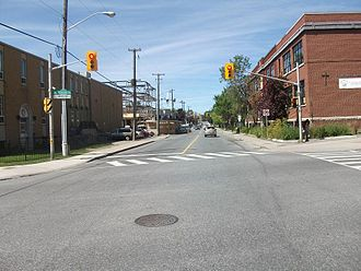 Booth Street - Booth Street, looking north at Gladstone Avenue.