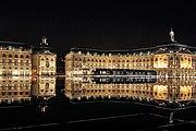 Bordeaux place de la bourse with tram