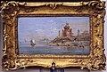 Bottega di francesco guardi, capriccio con fortezza in rovina in riva a una laguna, 1750-1790 ca..JPG
