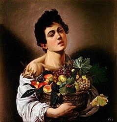 ミケランジェロ・メリージ・ダ・カラヴァッジオ: Boy with a Basket of Fruit
