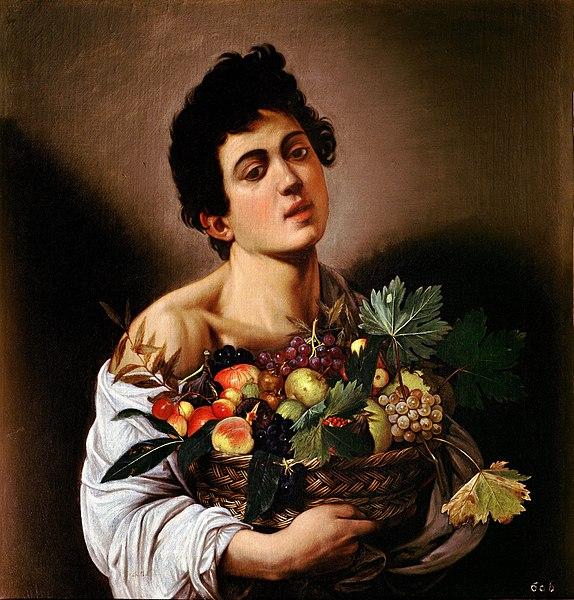 Archivo: Muchacho con cesto de frutas de Caravaggio (1593) jpg.