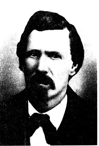 William J. Brady - Brady in 1872, Territorial Legislature photograph