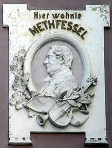 Plaque in Braunschweig commemorating a residence of Methfessel (Source: Wikimedia)
