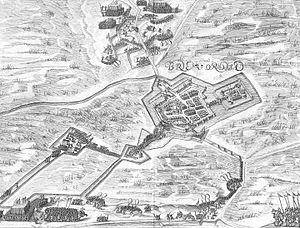 Map of the siege of Bredevoort 1597