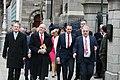Brian Stanley TD, Caoimhghín Ó Caoláin TD, John Brady TD, Pearse Doherty TD & Aengus Ó Snodaigh TD en route to the Dáil100 event (32961998408).jpg