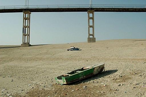 Bridge in Sioni Reservoir. September 2006