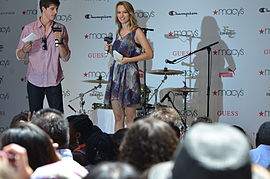 Mendler at Macy's Annual Summer Blowout event in Herald Square, New York City, in July 2011.