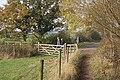 Bridleway and gate - geograph.org.uk - 607164.jpg