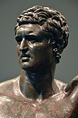 bazı uzmanların Scipio Aemilianus'u tasvir ettiğine inanılan bronz bir kafa