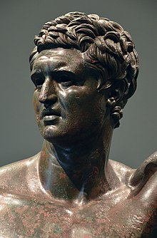 Bronze statue of a Hellenistic prince, 1st half of 2nd century BC, found on the Quirinal in Rome, Palazzo Massimo alle Terme, Rome (31479801364).jpg
