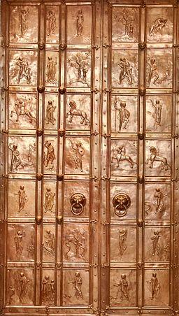 Bronzetür Augsburger Dom Gesamtansicht