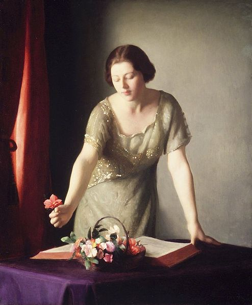 File:Brooklyn Museum - Girl Arranging Flowers - William McGregor Paxton - overall.jpg