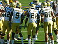 Bruins in huddle at UCLA at Cal 2010-10-09 3.JPG