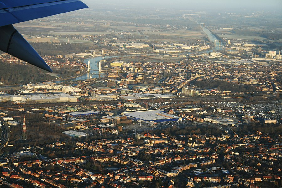 Air - view on Brussels, Belgium
