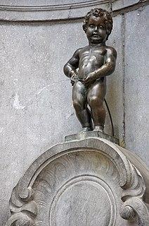 <i>Manneken Pis</i> brass sculpture and fountain by Jérôme Duquesnoy the Elder